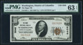 National Bank Notes:District of Columbia, Washington, DC - $10 1929 Ty. 1 The Riggs NB Ch. # 5046 PMG Choice Uncirculated 63 EPQ.. ...