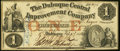Obsoletes By State:Iowa, Dubuque, IA- Dubuque Central Improvement Company $1 Feb. 27, 1858Extremely Fine.. ...
