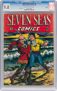Seven Seas Comics #2 Big Apple Pedigree (Universal Phoenix Feature, 1946) CGC NM/MT 9.8 Off-white to white pages