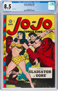 Jo-Jo Comics #19 (Fox Features Syndicate, 1948) CGC VF+ 8.5 Off-white to white pages