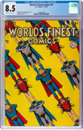 Golden Age (1938-1955):Superhero, World's Finest Comics #37 (DC, 1948) CGC VF+ 8.5 Off-white to white pages....