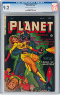 Golden Age (1938-1955):Science Fiction, Planet Comics #70 (Fiction House, 1953) CGC NM- 9.2 Cream to off-white pages....