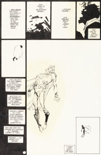 Frank Miller and Klaus Janson Batman: The Dark Knight Returns #4 Story Page 25 Superman Original Art (