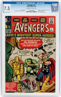 Silver Age (1956-1969):Superhero, The Avengers #1 (Marvel, 1963) CGC VF- 7.5 Off-white to white pages....