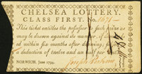 Norwich, CT- Chelsea Lottery Class First June 1794 Choice About New