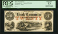 Obsoletes By State:Georgia, Savannah, GA- Bank of Commerce $20 18__ GA-275 G-10b Proof PCGS Choice New 63, hole punch cancelled.. ...