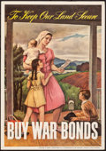 """Movie Posters:War, World War II Propaganda (Abbott Laboratories, 1943). Rolled, Fine/Very Fine. Poster (11"""" X 15.5"""") """"To Keep Our Land Secure,""""..."""