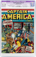 Golden Age (1938-1955):Superhero, Captain America Comics #1 (Timely, 1941) CGC Apparent VG/FN 5.0Extensive (P) Off-white to white pages....