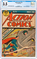 Golden Age (1938-1955):Superhero, Action Comics #15 (DC, 1939) CGC VG- 3.5 Light tan to off-white pages....