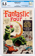 Silver Age (1956-1969):Superhero, Fantastic Four #1 (Marvel, 1961) CGC FN- 5.5 Off-white to whitepages....
