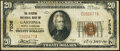 National Bank Notes:North Carolina, Gastonia, NC - $20 1929 Ty. 1 The Citizens NB Ch. # 7536 Fine.. ...