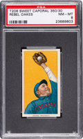 Baseball Cards:Singles (Pre-1930), 1909-11 T206 Sweet Caporal 350/30 Rebel Oakes PSA NM-MT 8 - Pop Two, None Higher. ...