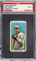 Baseball Cards:Singles (Pre-1930), 1909-11 T206 Piedmont 150 Red Ames (Hands at Chest) PSA NM 7. ...