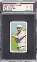 Baseball Cards:Singles (Pre-1930), 1909-11 T206 Sweet Caporal Red Kleinow (NY, With Bat) PSA NM-MT 8 - None Higher. ...