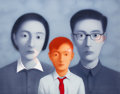 Prints & Multiples:Print, Zhang Xiaogang (b. 1958). Bloodline: Big Family No. 10, 2006. Lithograph in colors on wove paper. 31-1/4 x 46-3/4 inches...