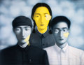 Prints & Multiples:Print, Zhang Xiaogang (b. 1958). Bloodline: Big Family No. 8, 2006. Lithograph in colors on wove paper. 31-1/4 x 46-3/4 inches ...