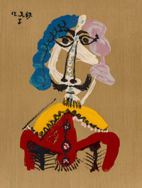 After Pablo Picasso Untitled, from Imaginary Portraits (from the American Edition), 1972 Offset lithograph in col