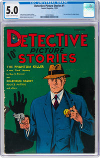 Detective Picture Stories #1 (Comics Magazine, 1936) CGC VG/FN 5.0 Cream to off-white pages