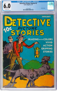 Detective Picture Stories #2 (Comics Magazine, 1937) CGC FN 6.0 Off-white pages