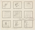 Animation Art:Production Drawing, The Huckleberry Hound Show Storyboard Original Art (Hanna-Barbera, 1959). . ...