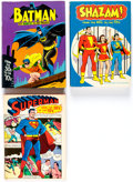 Books:Hardcover, Batman, Superman and Shazam! Hardcover Books Group of 3 (Various, 1971-77) Condition: Average VF.... (Total: 3 Items)