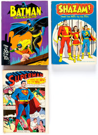 Batman, Superman and Shazam! Hardcover Books Group of 3 (Various, 1971-77) Condition: Average VF.... (Total: 3 Items)