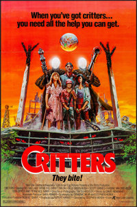 """Critters & Other Lot (New Line, 1986). Flat Folded, Overall: Very Fine-. One Sheets (85) (27"""" X 41"""") K..."""