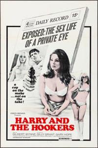 """Harry and the Hookers (Joseph Brenner Associates, 1969). Flat Folded, Very Fine. One Sheets (32) Identical (27"""" X 4..."""