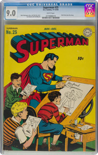 Superman #25 (DC, 1943) CGC VF/NM 9.0 White pages