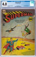 Golden Age (1938-1955):Superhero, Superman #10 (DC, 1941) CGC VG 4.0 Cream to off-white pages....
