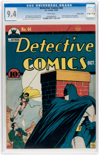 Detective Comics #44 Central Valley Pedigree (DC, 1940) CGC NM 9.4 White pages