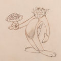 Animation Art:Production Drawing, Tom and Jerry Butch Cat Production Cel (Hanna-Barbera, c. 1940s-1950s).. ...