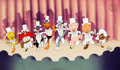 "Animation Art:Limited Edition Cel, ""Chorus Line"" Bugs Bunny and Friends Limited Edition Cel (Warner Brothers, 1990). . ..."