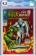 Silver Age (1956-1969):Superhero, Tales to Astonish #93 (Marvel, 1967) CGC NM- 9.2 White pages....