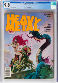 Heavy Metal V5#1 (#49) (HM Communications, 1981) CGC NM/MT 9.8 White pages