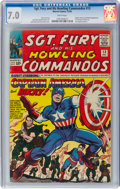 Silver Age (1956-1969):Superhero, Sgt. Fury and His Howling Commandos #13 (Marvel, 1964) CGC FN/VF7.0 White pages....