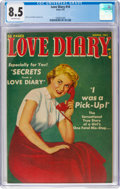 Golden Age (1938-1955):Romance, Love Diary #14 (Orbit, 1951) CGC VF+ 8.5 Off-white pages....