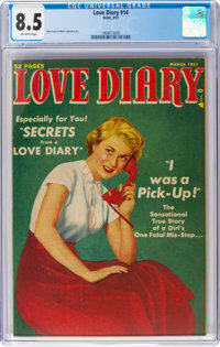 Love Diary #14 (Orbit, 1951) CGC VF+ 8.5 Off-white pages