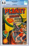 Golden Age (1938-1955):Science Fiction, Planet Comics #43 (Fiction House, 1946) CGC VF+ 8.5 Off-white to white pages....