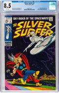 Silver Age (1956-1969):Superhero, The Silver Surfer #4 (Marvel, 1969) CGC VF+ 8.5 White pages....