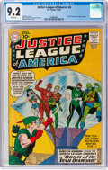 Silver Age (1956-1969):Superhero, Justice League of America #4 (DC, 1961) CGC NM- 9.2 White pages....