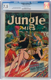 Jungle Comics #94 (Fiction House, 1947) CGC VF- 7.5 Off-white to white pages