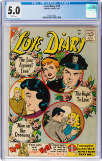 Love Diary #10 (Charlton, 1960) CGC VG/FN 5.0 White pages