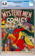 Golden Age (1938-1955):Superhero, Mystery Men Comics #6 (Fox, 1940) CGC FN 6.0 Cream to off-white pages....