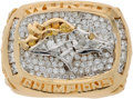 Football Collectibles:Others, 1997 Denver Broncos Super Bowl XXXII Championship Ring Presented to Defensive Lineman Trevor Pryce....