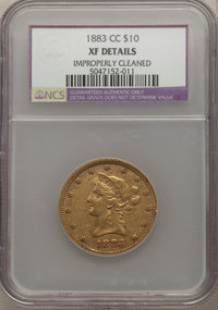 1883-CC $10 -- Improperly Cleaned -- NCS Details. XF. NGC Census: (19/132). PCGS Population: (19/138). CDN: $1,800 Whsle...