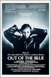 "Out of the Blue (Discovery Films, 1982). Folded, Very Fine. One Sheets (60) Identical (27"" X 41""). Drama..."