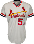 Baseball Collectibles:Uniforms, 1985 Willie McGee Game Worn St. Louis Cardinals Jersey. ...
