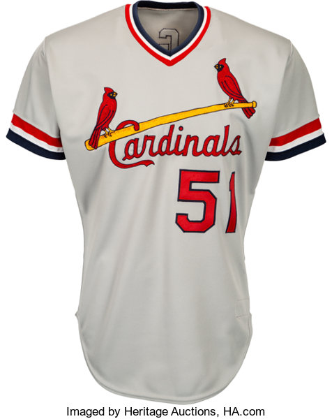 new concept 1307c 25b69 1985 Willie McGee Game Worn St. Louis Cardinals Jersey ...