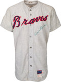 Baseball Collectibles:Uniforms, 1969 Milt Pappas Game Worn & Signed Atlanta Braves Jersey....